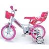 """Bicicleta De Niños Unicorn Rosa 12"""" Dino Bikes"""