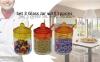 Set 3 Recipientes 200ml De Cristal Para Especias Y Alimentos 6,5 X 11 Cm