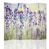 Biombo - Separador - Lavender Watercolour Cm.  145x180 (5 Paneles)