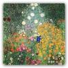 Impresión Sobre Metal - Gustav Klimt Jardín De Flores Cm. 40x40