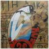 Pintura Al Óleo Sobre Lienzo - Amor Maternal Cm. 60x60