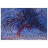 Impresión Sobre Lienzo - Piet Mondrian El Árbol Rojo Cm. 80x100