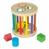 Cilindro De Madera Con 6 Figuras Geométricas Encajables - Play & Learn