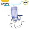 Silla Plegable Aluminio 7 Posiciones Con Cojín 64x61x118 Cm Aktive Beach