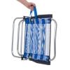 Silla De Playa Plegable Azul Marino De Aluminio De 57x50x88cm