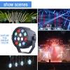 12 Leds Rgbw Lámpara Etapa Luz Dmx Controlador 7ch Para Fiesta Disco Dj