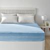 Funda De Colchón Azul De Rizo Elástico Transpirable Cama De 180 Pikolin Home