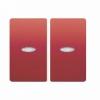 Tecla Doble Interruptor O Conmutador Con Luminoso Cobre Jaipur Bjc Iris 18709-cjl