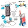 Carro Portasillas Plegable Azul De Aluminio Para Camping Y Playa