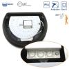 Plafón Media Luna Ip54  Antivandálico Led 6400k Con Sensor Negro