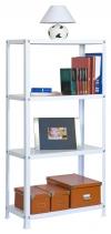 Estanteria Metálica Homeclassic Mini 4/300 Blanco/blanco 1600x800x300 Mm