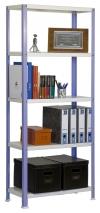 Estanteria Doméstica Homeclassic Color Mini 5/300 Violeta/blanco 1800x800x300 Mm
