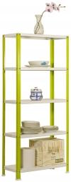 Estantería Metálica Para Hogar Sin Tornillos Homeclick Color Mini  Verde/blanco
