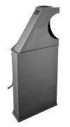 Chimenea De Leña Rinconera Eco Design Modelo R8 Horno Titanium