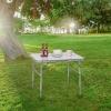 Mesa Plegable Portátil Para Camping Terraza Jardín Playa De Aluminio 90x60x70cm Gris