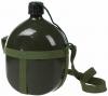 Cantimplora Verde Camping Militar Policía De Aluminio Caza Airsoft 1,4l Litros