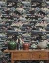 Papel Pintado, Estampación Digital Sobre Tejido-no Tejido, Pvc Free, Con Tintas Ecológicas Hp Latex. Colección Asian. 68 Cm X10 Mt. Cubre 6,80 M2. Sakai Color 50. Made In Spain