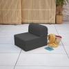 Tumbona Convertible Recto Ibiza Exterior 184x64x15 Cm Grafito