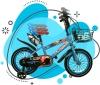 Bicicleta Para Niños-niñas 3-8 Años Medidas: 80.5x19x40cm Color Azul