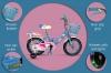 Bici Ruedines-cesta 3-7 Años Medidas: 80.5x19x40cm Color Azul