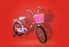 Bici Con Ruedines-cesta 3-7 Años Medidas: 100x19x47cm Color Rojo