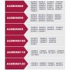 Audkns120 - Talla 120. Juego De 2 Cadenas Nieve Metálicas Safe Grip Auto Label Eslabón 9 Mm. Tuv..