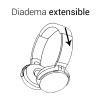Woox Auriculares Bluetooth Inalámbricos Cascos Con Diadema Ajustable Con Control De Manos Libres Y Micrófono