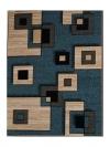 Alfombra Trendy Geometric Moderna Para Salón O Habitación Turquesa 67x125 Cm