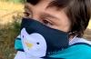 Mascarilla Desenfundable Pinguino Pekebaby * Filtro Incluido