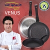 Set 3 Sartenes San Ignacio Venus 20,24,28cm En Aluminio Prensado Con 3 Utensilios De Cocina