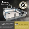 Molde Horno Acero Inoxidable Bergner (35,4x25,6) + 4 Utensilios Cocina