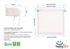 Estor Enrollable Happystor Estampado Digital Motas Blanco-celeste 100x250