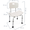 Primematik - Silla De Ducha Antideslizante Regulable En Altura Para Baño Kd00500