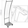 Primematik - Expositor Portafolletos 48 X 37 X 143 Cm Con 9 Compartimentos Para Folletos Y Revistas Lx09300