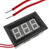 Bematik - Visor Lcd De 3 Dígitos Azul Y Con Voltímetro 60-500v Con Marco Ao08200
