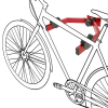 Primematik - Gancho De Pared Para Colgar La Bicicleta Del Chasis En Horizontal Bk05700