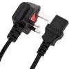Bematik - Cable Eléctrico British Standard Bs-1363-1 A Iec-60320-c13 3x1.00mm² De 0.4m Negro Cl05100