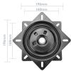 Primematik - Base Giratoria Manual 196x196mm Y 100kg De Carga. Plataforma Rotación 90 Grados Retorno Automático Gr00400
