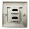 Bematik - Caja De Pared Canaleta 80x80 2xhdmi-h He02200