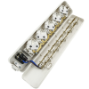 Bematik - Base De 5 Enchufe Schuko 16a 250v 3680w Tt 275x54x42mm Con Interruptor Ia01300