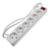 Bematik - Regleta De Enchufes 6 Schuko 16a 250v Blanca Con Interruptor Y Cable De 1.5m Ia03500