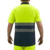 Primematik - Camiseta Tipo Polo De Manga Corta Reflectante Amarillo Azul Para Seguridad Laboral De Talla L Ii00200