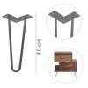 Primematik - Pies Para Mesa Y Mueble Patas En Acero 2 Varillas 41 Cm 4-pack In05100