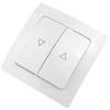 Bematik - Pulsador Doble Empotrable Con Marco 80x80mm Serie Lille De Color Blanco Me01600