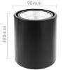 Bematik - Foco Led De Superficie Lámpara Cob 7w 220vac 6000k Negra 90mm Ne03500