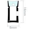 Primematik - Tira Luz Flexible Led Neón Flex Lnf 16x8mm 220vac De 5m Naranja Nl00700
