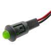 Bematik - Luz Led Piloto De 8mm 12vdc De Color Verde Qw01300