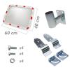 Primematik - Espejo Convexo Rectangular De Señalización Seguridad Y Vigilancia 60x40 Cm Sq07100