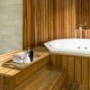 Primematik - Bandeja De Baño Con Asas 60 X 40 X 5 Cm Spa Wellness De Madera De Teca Certificada Kz11100