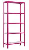 Estanteria Doméstica Homeclick Color Plus 5/300 Rosa/blanco 1800x1000x300mm